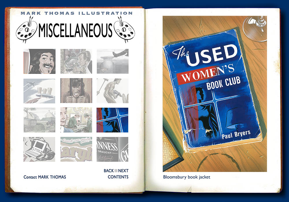 The Used Womens's Book Club, Paul Bryers. Illustration by Mark Thomas. Please note this is a UK based all image site